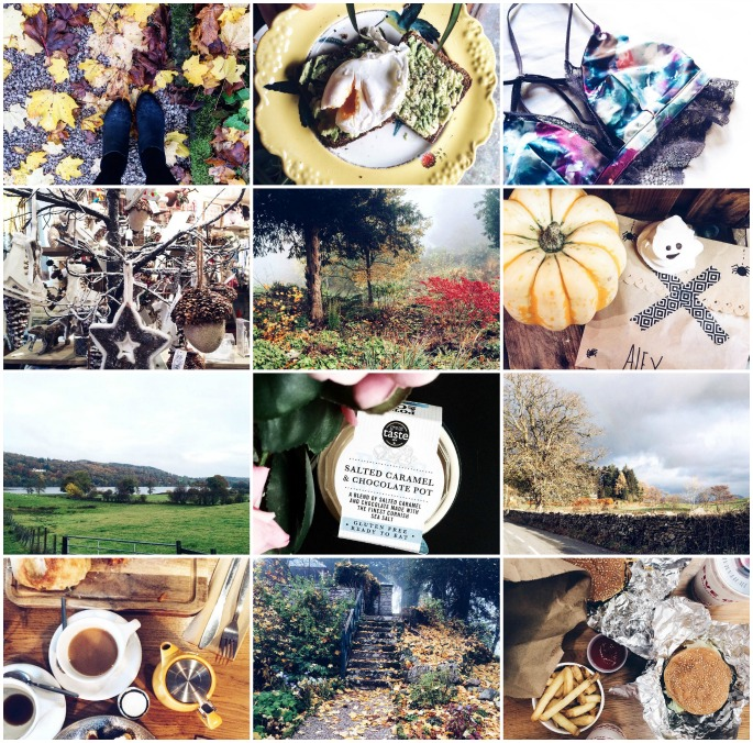 Instagram photo collage autumn 2015