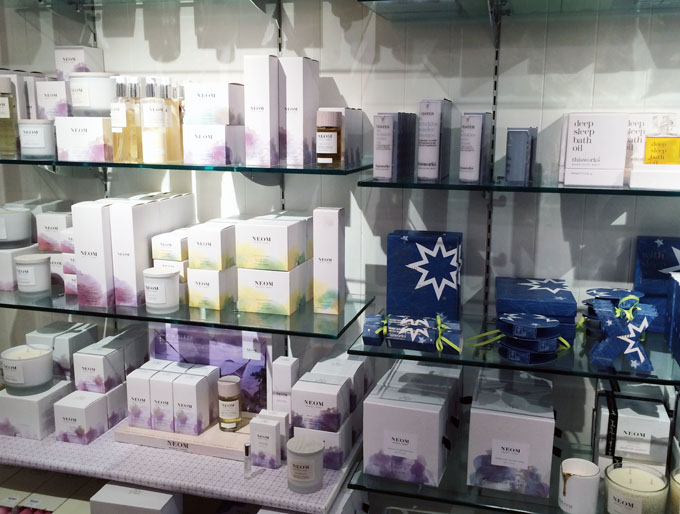Beauty products at the Chesters by the River shop