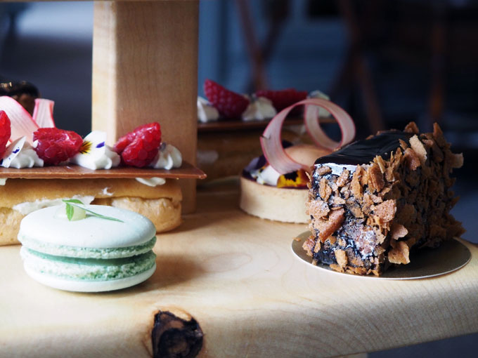 Afternoon tea cakes at the Forest Side