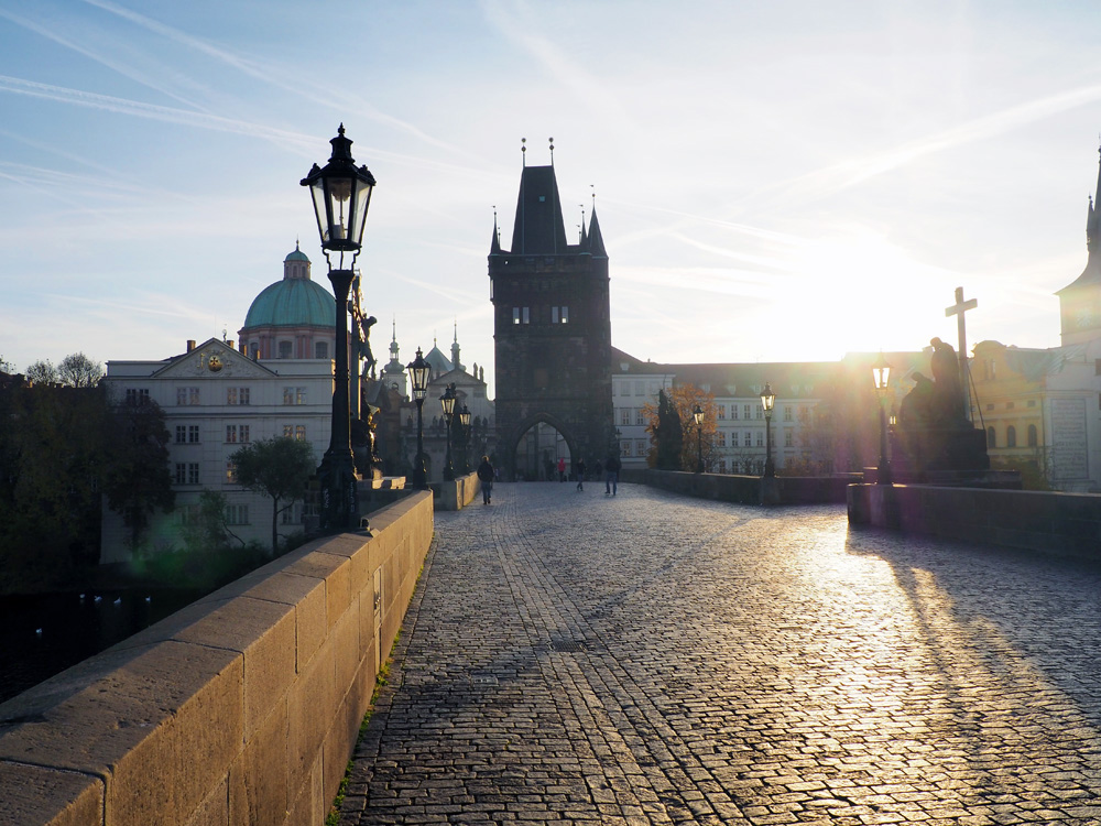 Charles Bridge Prague morning