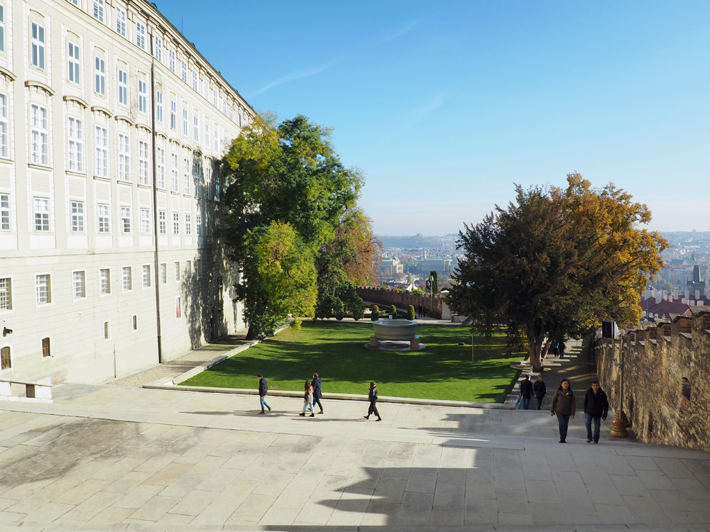 Prague castle garden view