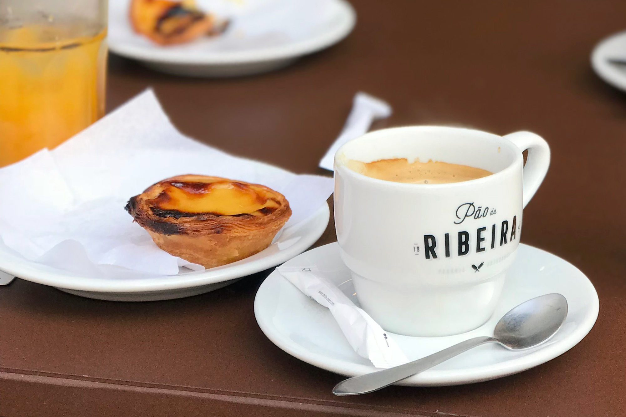 Pastel de nata at Pao de Ribiera